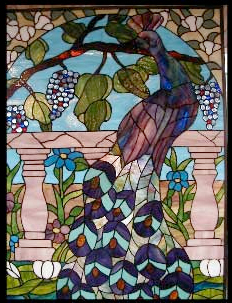 Example of residential stained glass