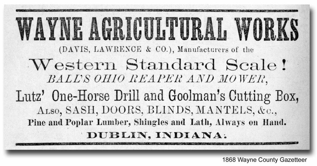 Wayne Agricultural Works of Dublin, Indiana