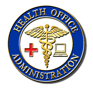 Health Office Administration lapel pin