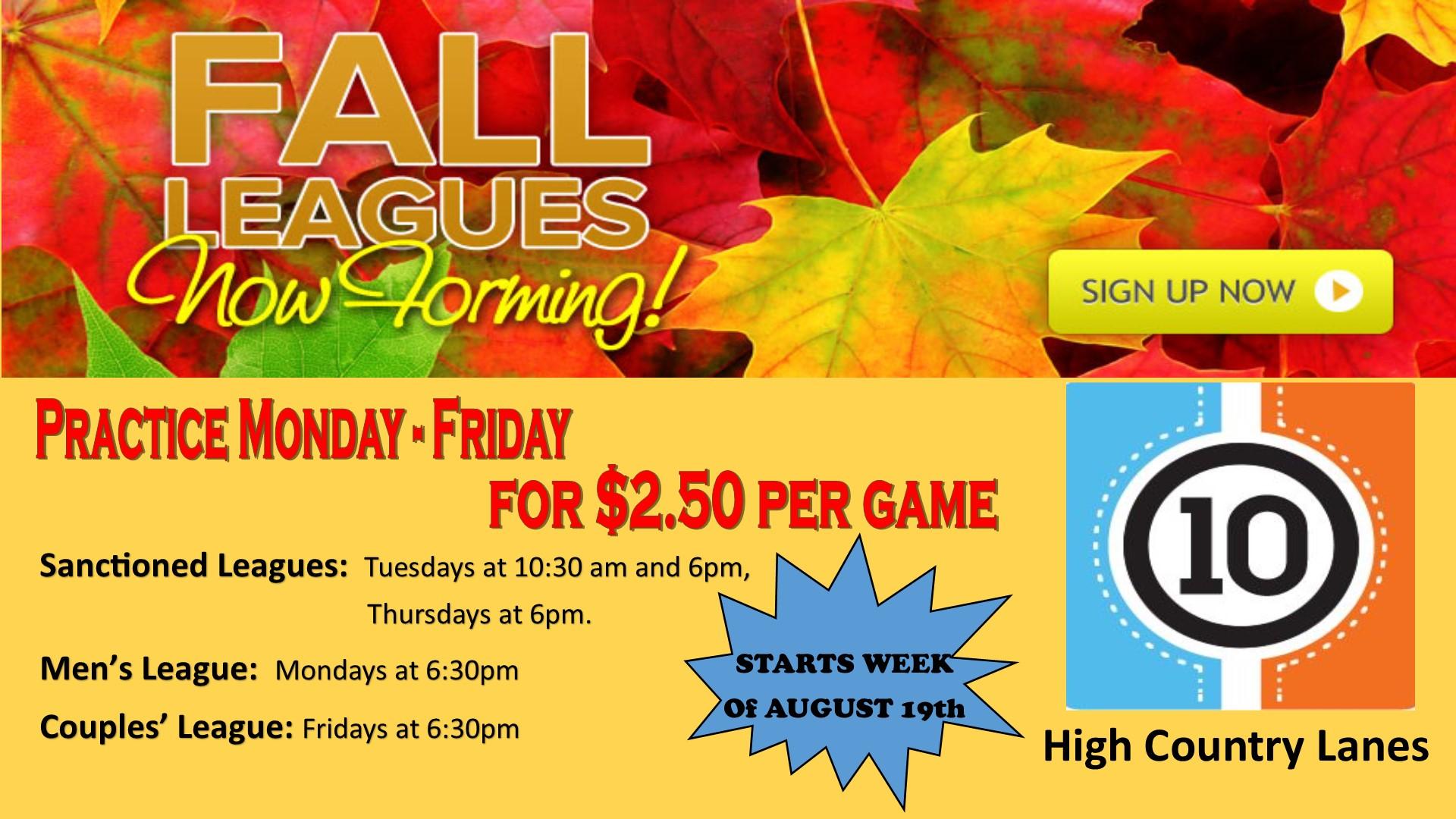 Fall League website