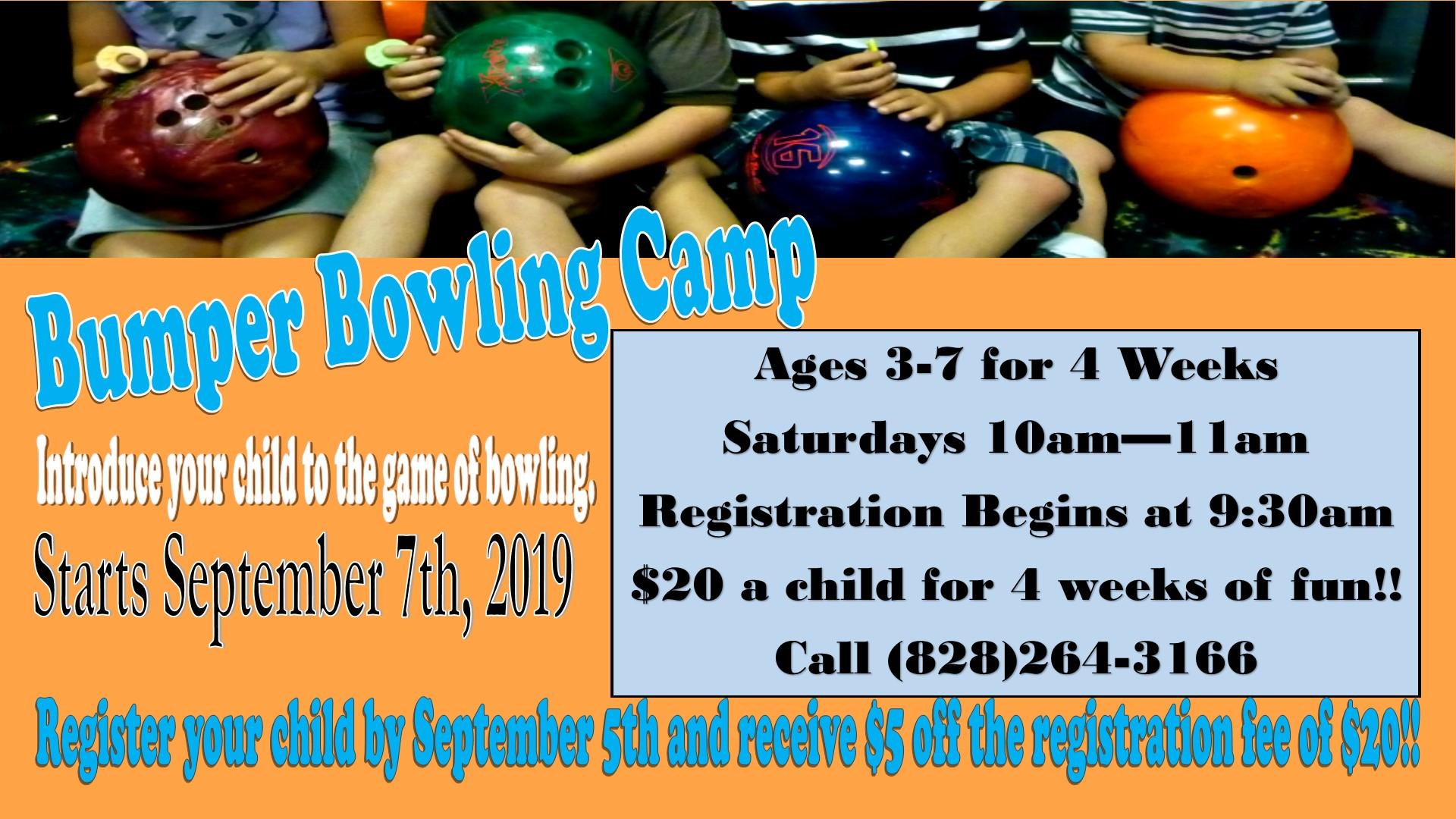 Bumper bowling camp tv