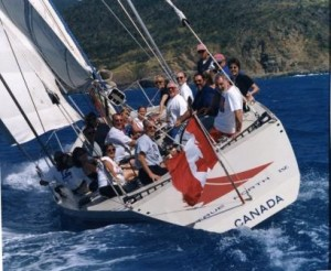 Landry & Kling Incentive Charters, Mini-regatta event during Caribbean cruise charter.