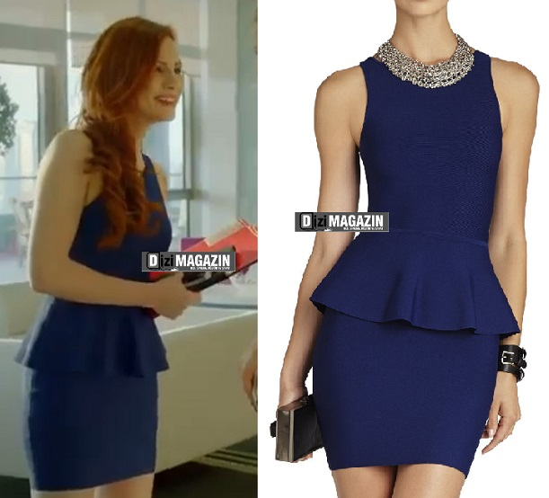 Medcezir - Ender Kıyafetleri - Mavi Elbise