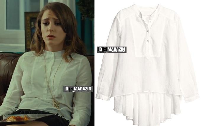 Medcezir Mira  Beyaz Gömlek H&M