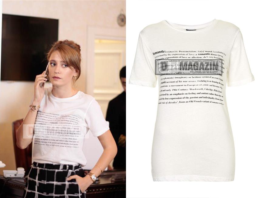 Medcezir Mira Yazılı T-Shirt TopShop Marka