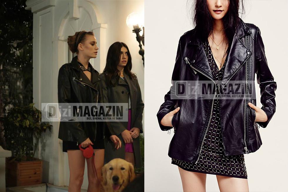 Mira'nın siyah deri ceketi Bensanabulurum.