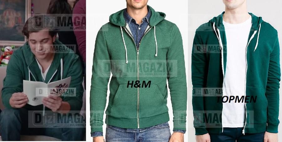 Medcezir Yaman Yeşil Sweatshirt - Topmen - H&M