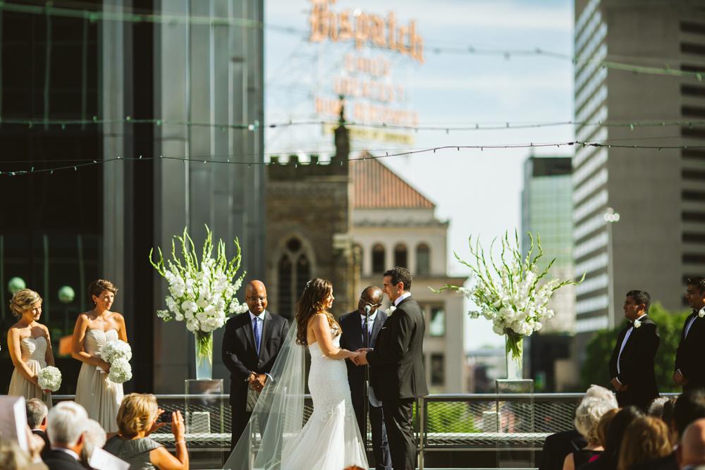 Renaissance rooftop ceremony