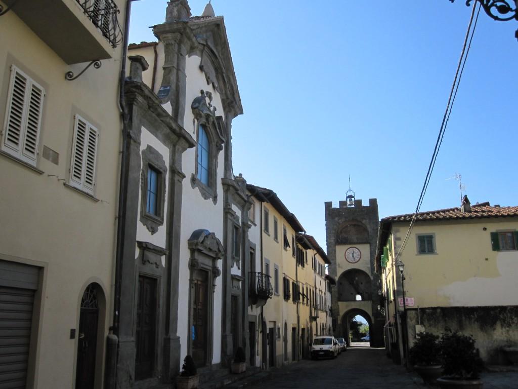 hoofdstraat Castelfranco di Sopra