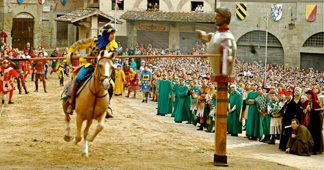 Het middeleeuwse steekspel Giostra di Saracino in Arezzo