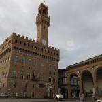 Piazza della Signoria met Palazzo Vecchio en de Loggia dei Lanzi