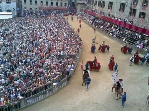 "Historische paardenrace ""Palio di Siena"""