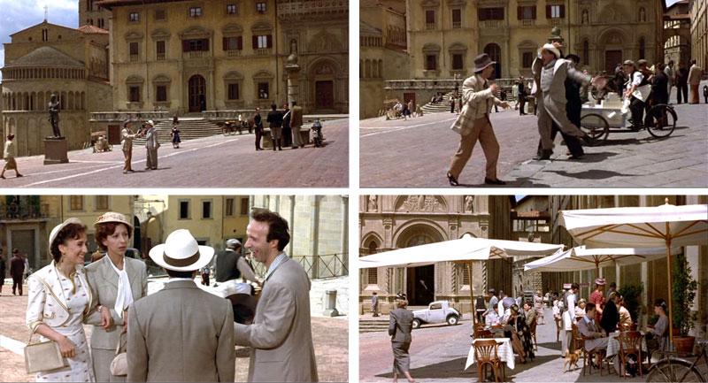 opnames film La vita è bella in Arezzo