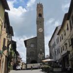 Het bekende wijnstadje Montalcino