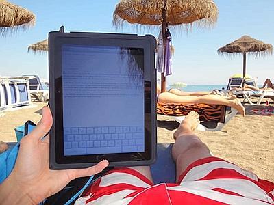 tablet op vakantie