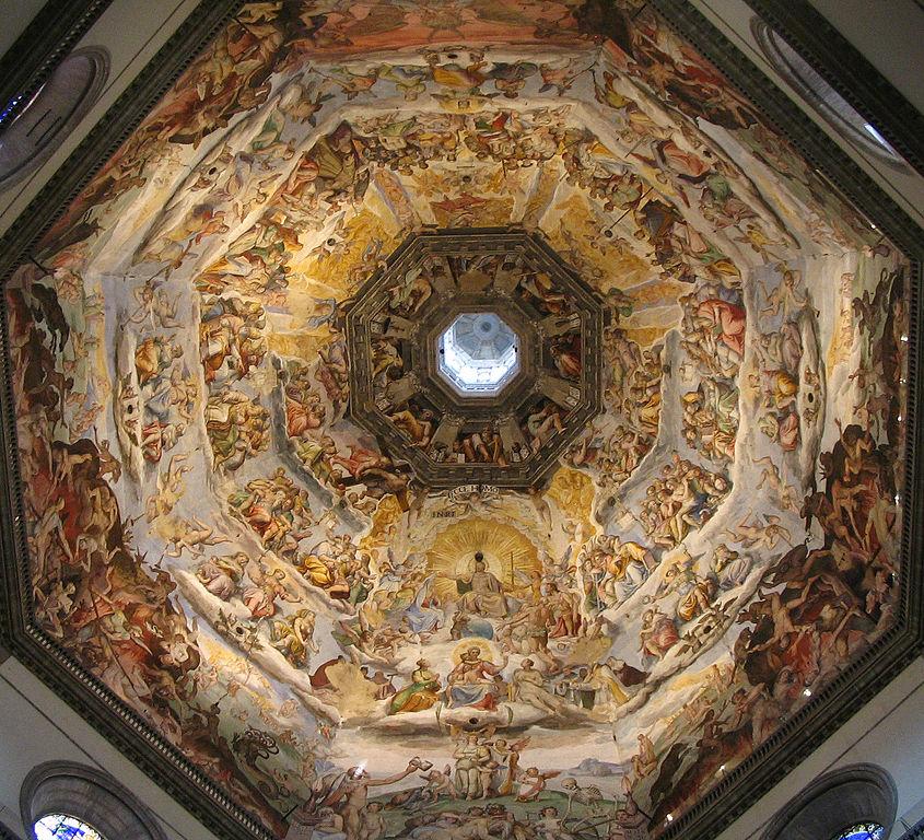 Fresco Het Laatste Oordeel op de koepel