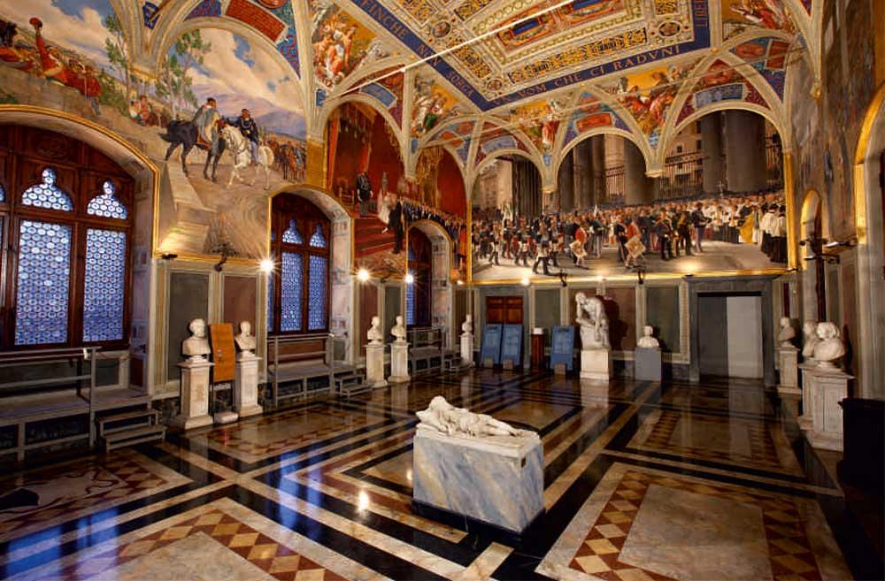 Sala del Risorgimento in het Palazzo Pubblico
