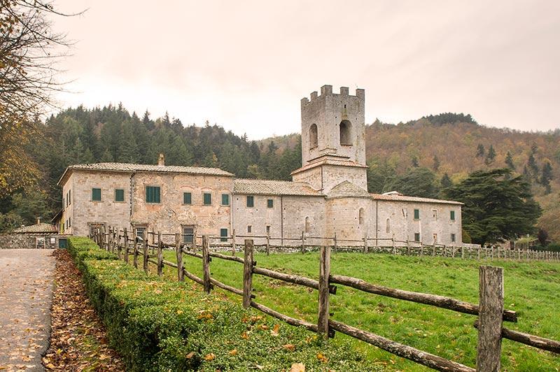 De voormalige abdij Badia Coltibuono