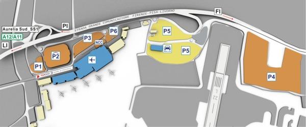 parkings luchthaven Pisa