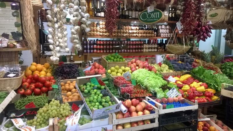 groenten en fruit op gelijkvloers