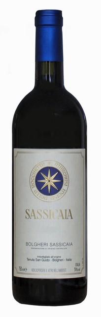 De Sassicaia wijn uit Bolgheri