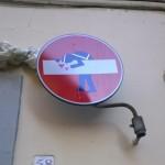 De streetart van Clet in Firenze