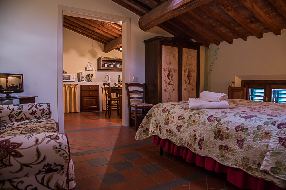 slaapkamer van één van de appartementen