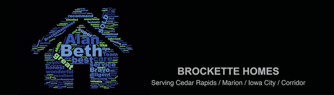 Brockette Homes Word Cloud Website Banner