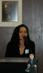 Me speaking at Jane Addams ceremony.