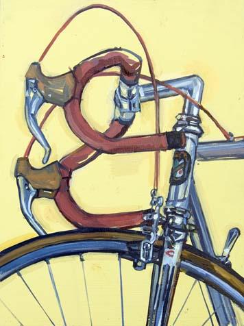 Vince's Cinelli - Cropped 4 February 24, 2008 Oil on panel, 16 x 12""
