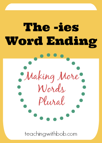The ies word ending