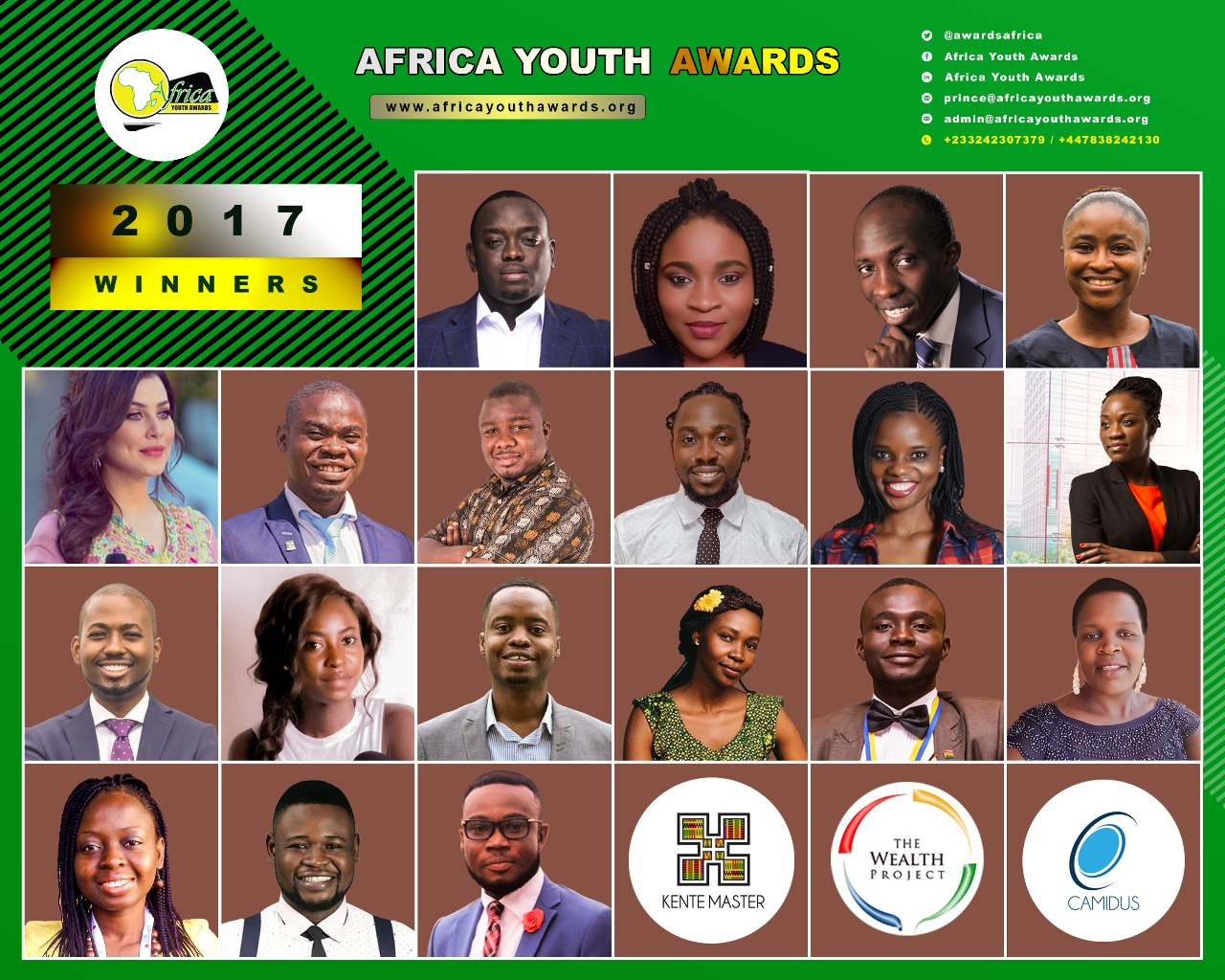 Photo of 3 Kenyans Announced Among Winners Of 2017 Africa Youth Awards
