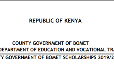 Photo of Bomet County Scholarships For #KCPE2019 Students