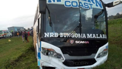 Photo of Photos From Webuye Satanic Accident Involving Modern Coast, Lorry And Shuttle
