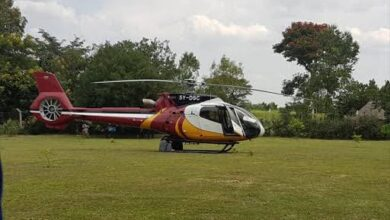 Photo of Tycoon Politicians Show Off Their Mighty Choppers At Wilson During Moi's Air Convoy To Kabarak