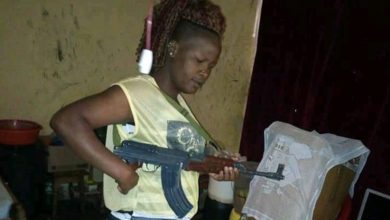 Photo of Suspected Female Gangster Who Brags With Guns On Facebook