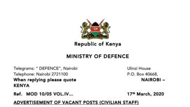 Photo of KDF Hiring Civilians In 16 Sections, 253 Vacancies Open