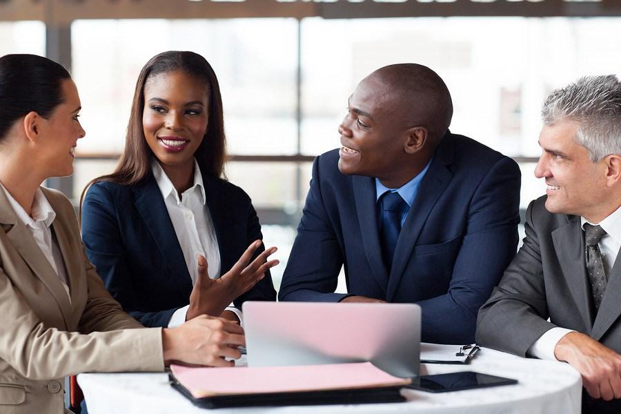 modern business partners having meeting