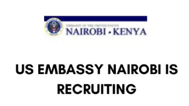 Photo of US Nairobi Embassy Hiring