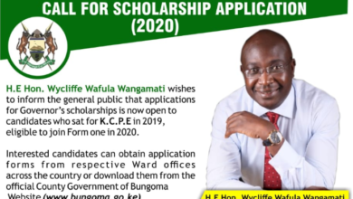 Photo of Bungoma County Scholarship For KCPE 2019 Students Open