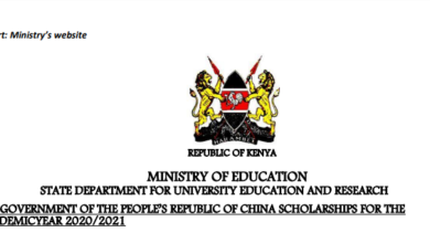 Photo of Government Of China Scholarships For Kenyan Students