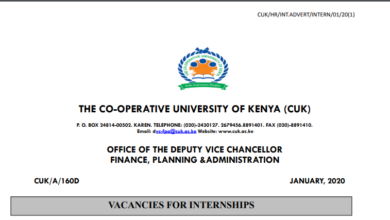 Photo of Cooperative University Hiring Interns In 8 Departments
