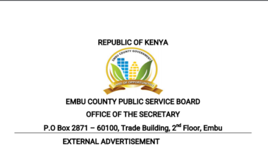 Photo of Embu County Hiring In 36 Health Departments