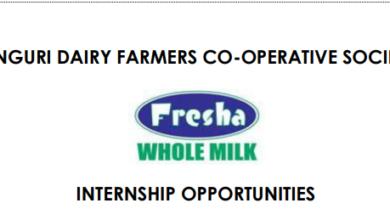 Photo of Internship Opportunity At Fresha Dairy Brands.