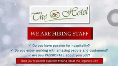 Photo of Organic Nairobi Hotel Massively Hiring
