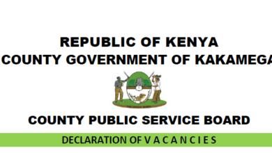 Photo of 43 Vacancies Open In Kakamega County