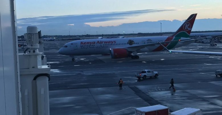 Photo of Water Salute For KQ After Maiden Landing At JKF, New York