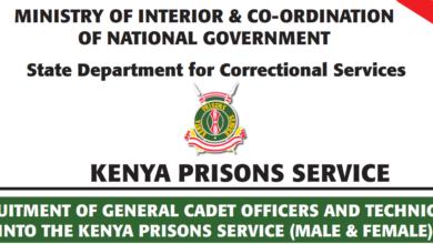 Photo of Kenya Prisons Still Calling For Mass Recruitment Application