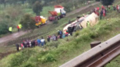 Photo of Photos – Mbukinya Bus Accident Along Naivasha-Nairobi Highway On Sunday Morning