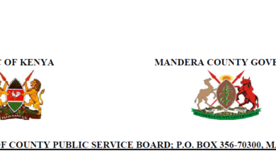 Photo of More Than 190 Vacancies Open In Mandera County